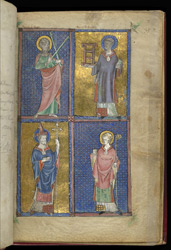 Saints Andrew, Lawrence, Peter, and Martin, Added To The 'Alphonso' Psalter